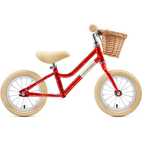 "Creme Mia Push Bike 12"" Kids red polka"